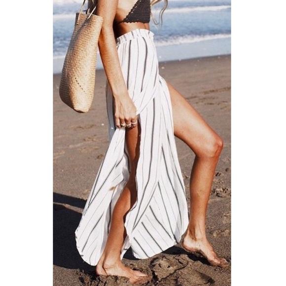 08f2de53c0 Onia Pants | Chloe Micro Stripe Wide Leg Beach Pant S Nwt | Poshmark